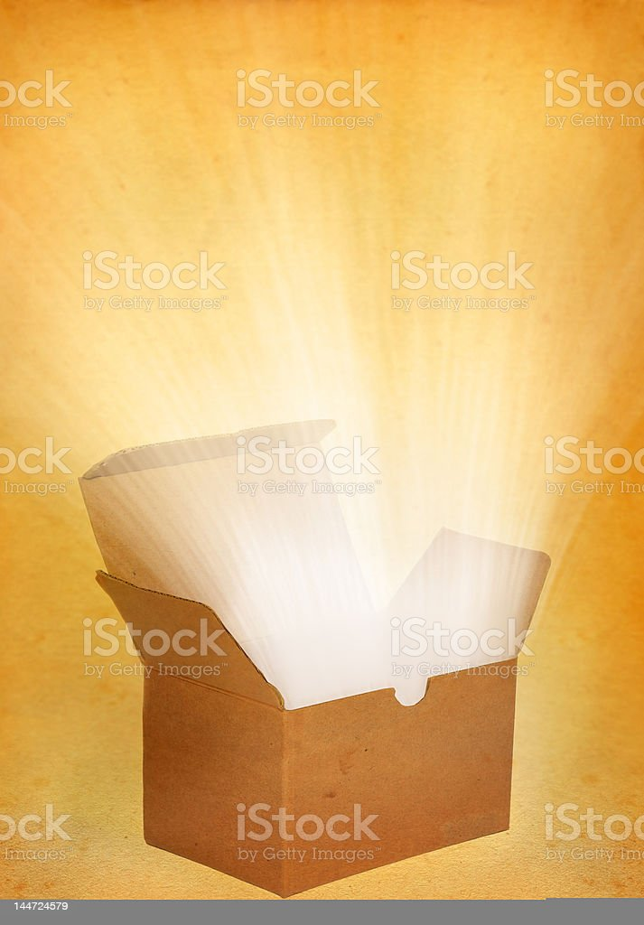parcel with a treasure stock photo