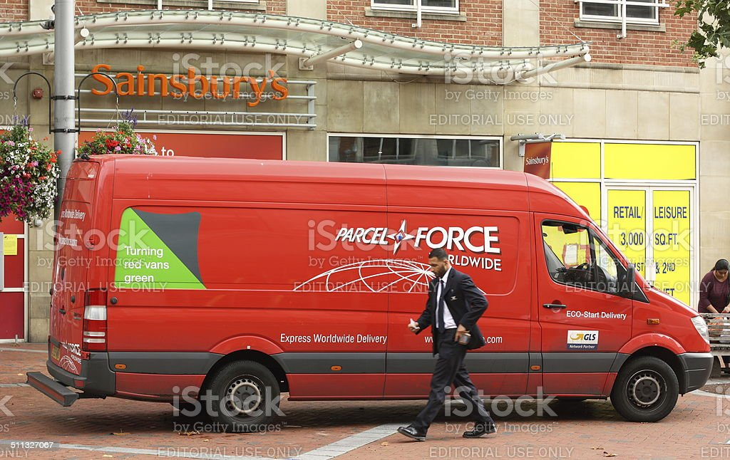 Parcelforce Delivery Van stock photo