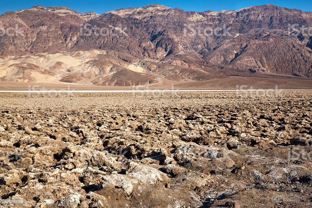 Parched desert floor in Death Valley stock photo