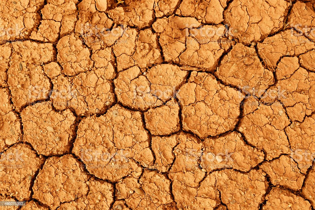 Parched Earth stock photo