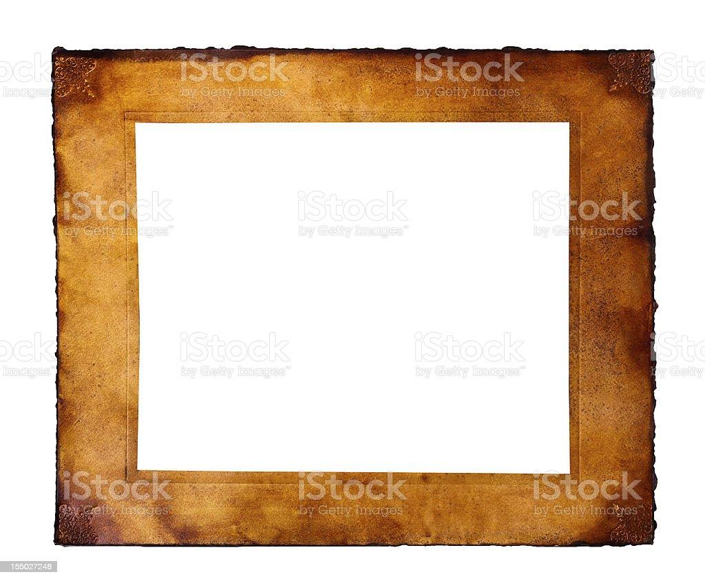 Parchment frame stock photo