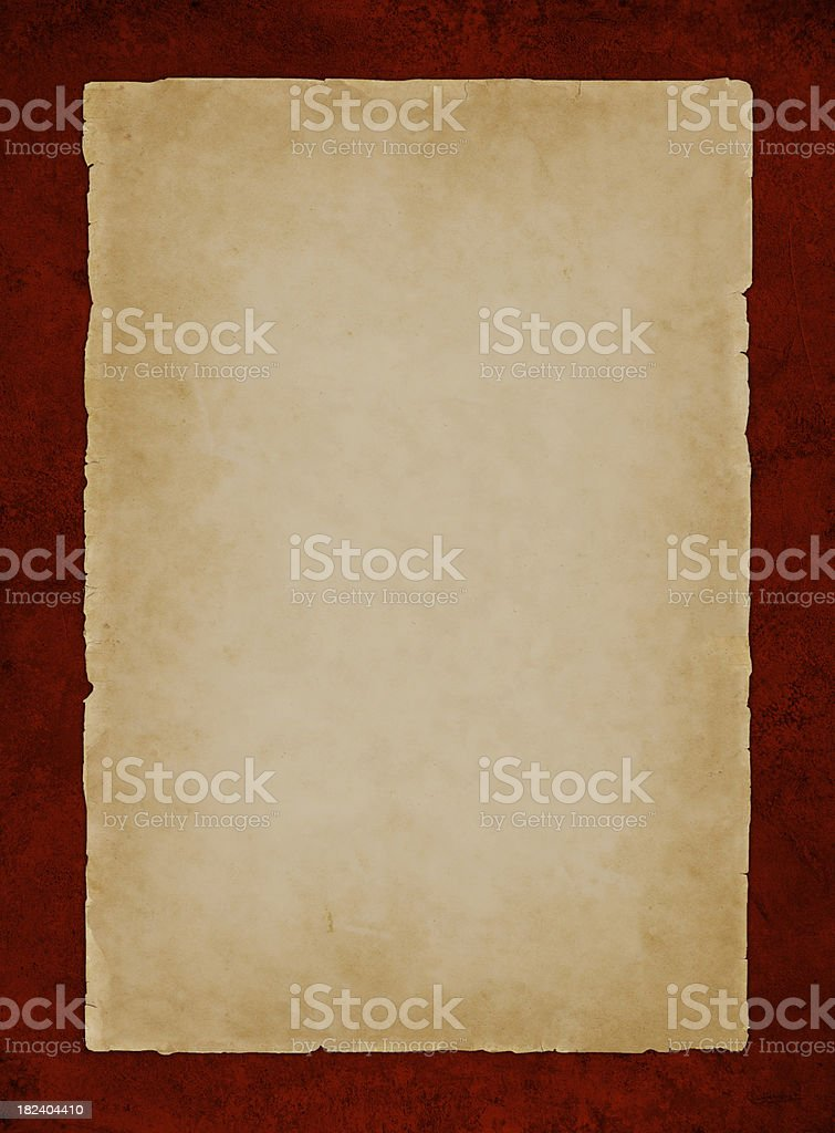 parchment on red royalty-free stock photo