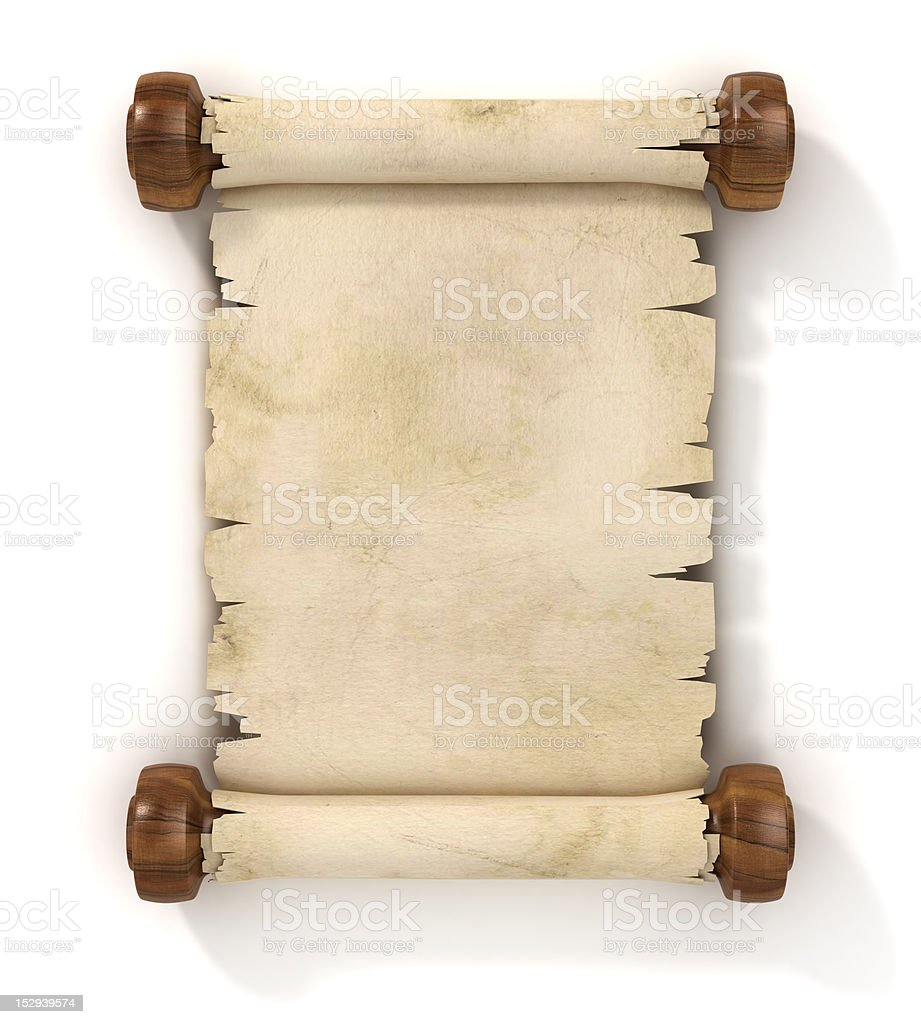 parchment scroll royalty-free stock vector art
