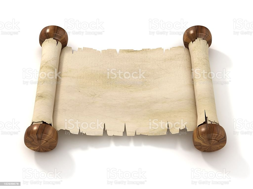 parchment scroll royalty-free stock photo