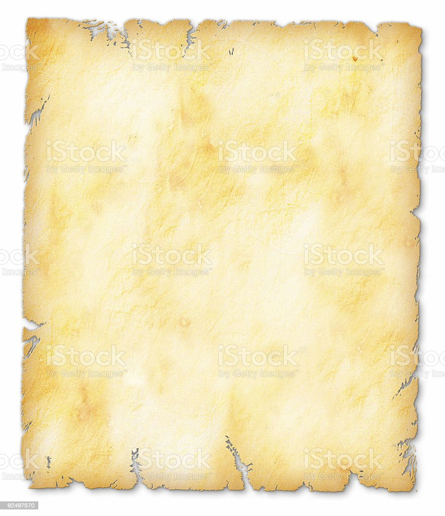 Parchmnet - Gold royalty-free stock photo