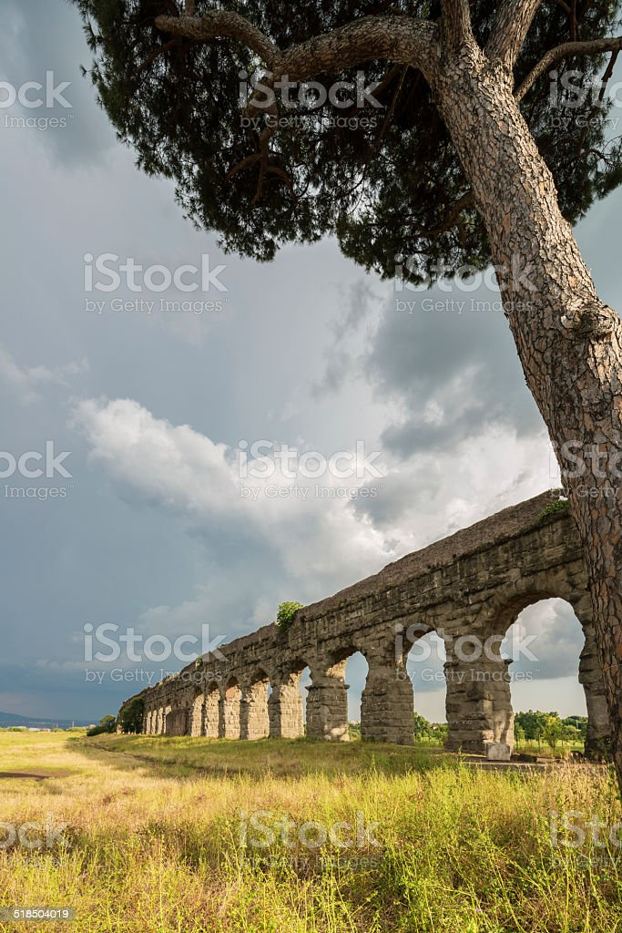 Parco degli Acquedotti, Aqua Claudia, Rome Italy stock photo