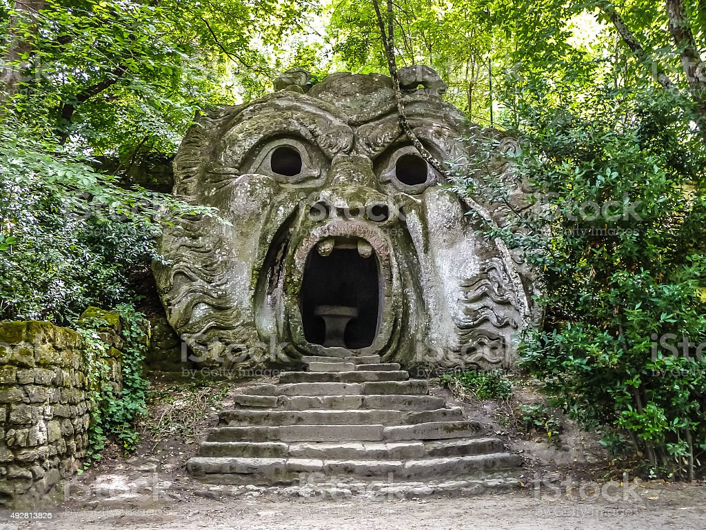 Parco dei Mostri in Bomarzo, province of Viterbo, Lazio, Italy stock photo