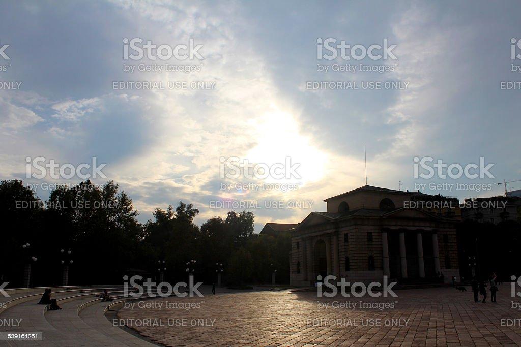 Parco Sempione - Milan, Italy stock photo