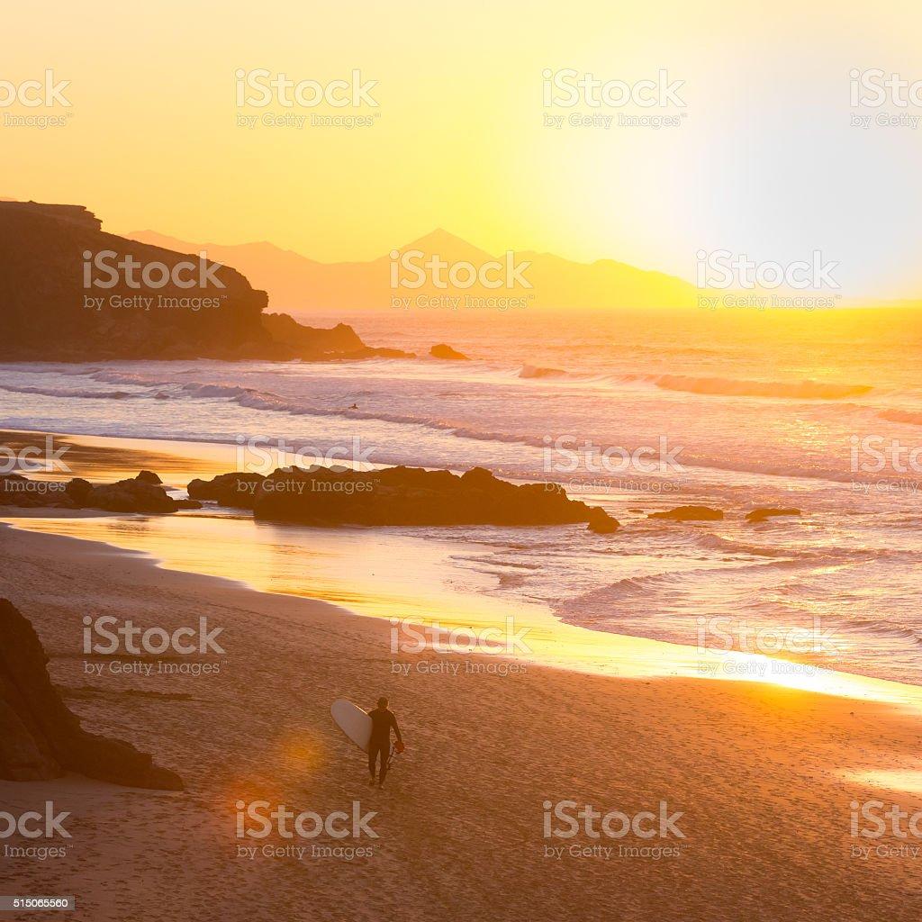 Pared beach, Fuerteventura, Canary Islands, Spain stock photo