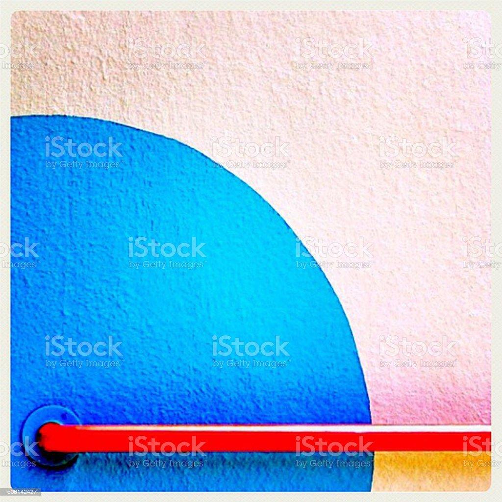 Parede azul stock photo