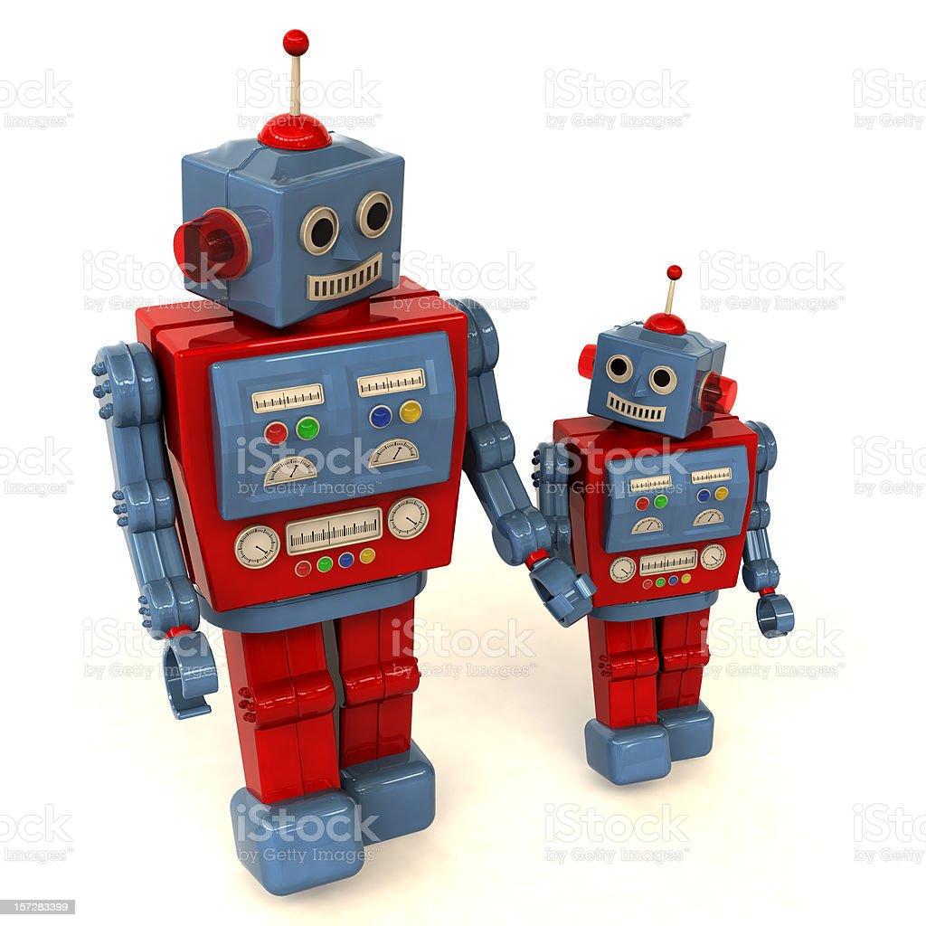 Parent and Child Robots stock photo