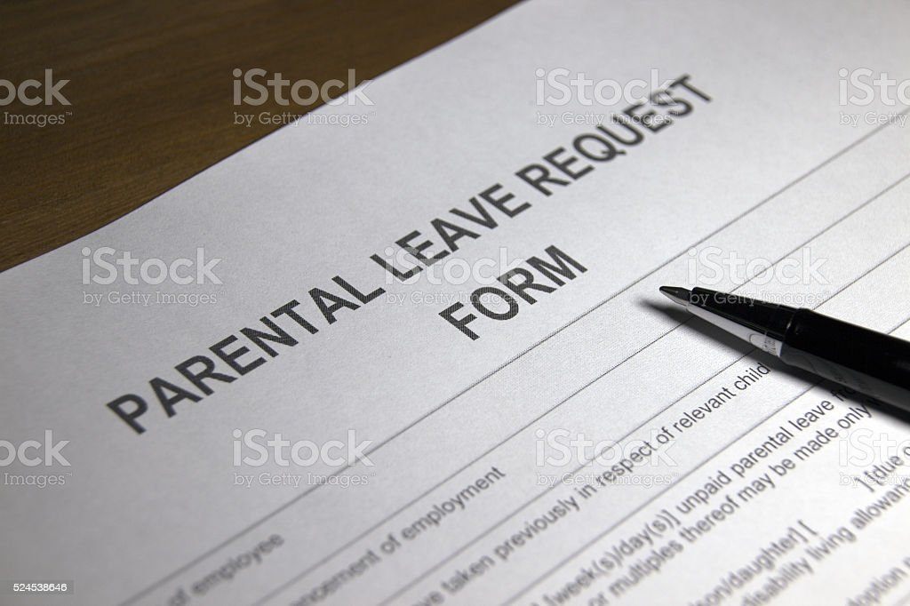 Parental Leave Form stock photo