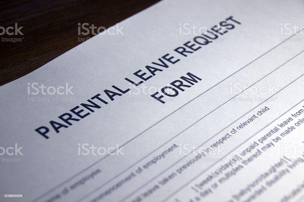 Parental Leave Request Form stock photo