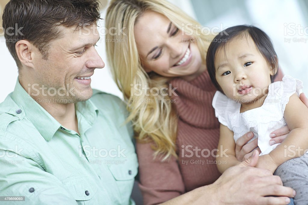 Parenthood is so fulfilling stock photo