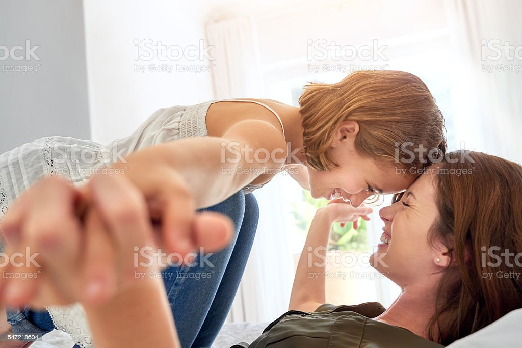 Parenting is all about balance stock photo