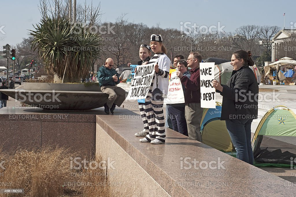 Parents and Children In Protest royalty-free stock photo