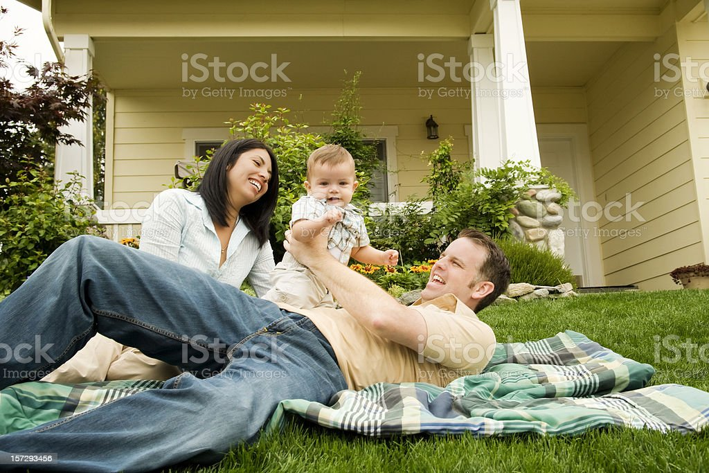 Parents at Home with Baby Boy royalty-free stock photo