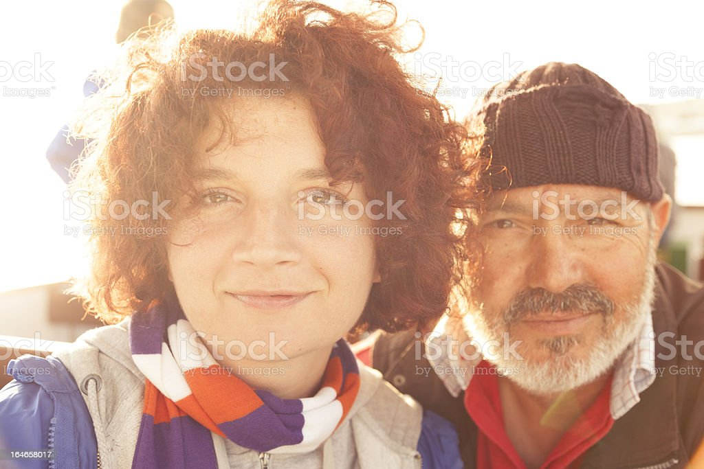 Parents. Daughter and Father Portrait . Family royalty-free stock photo