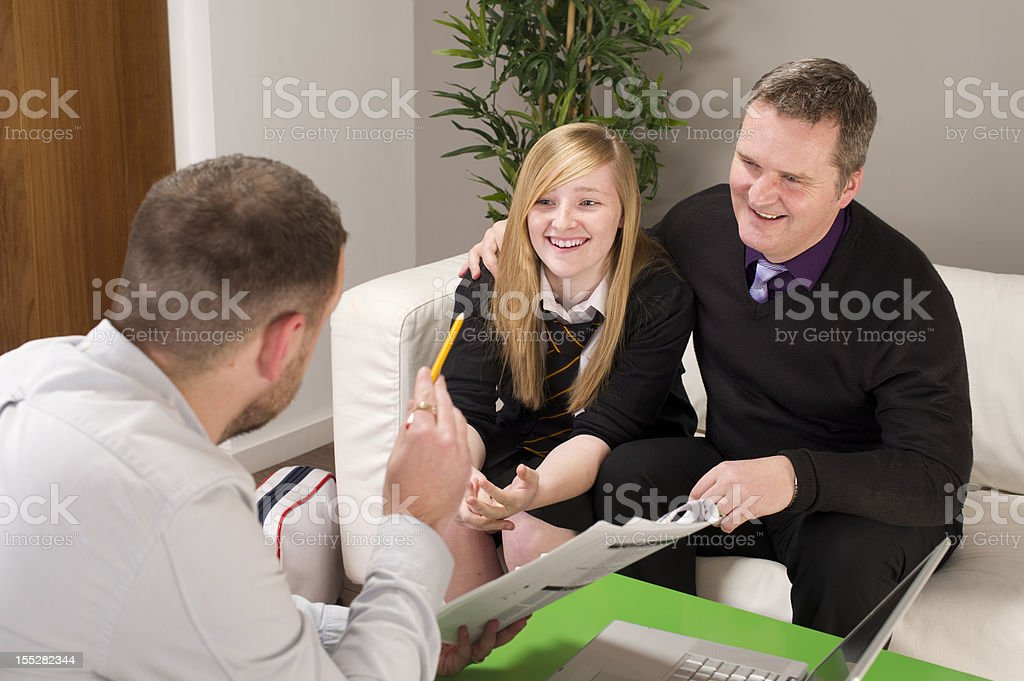 parent's evening stock photo