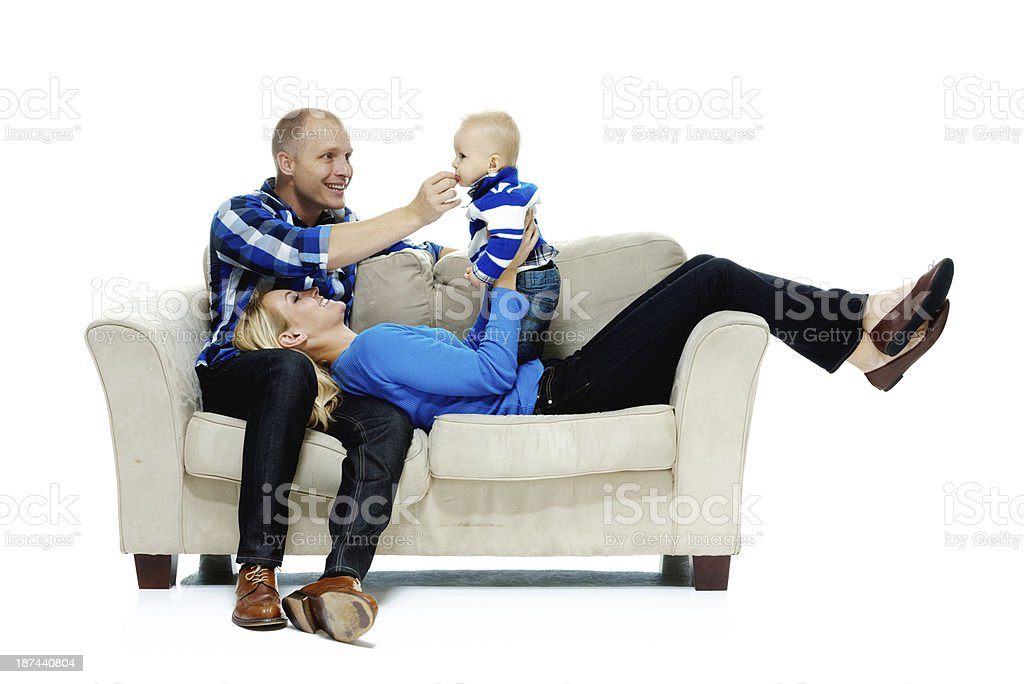 Parents playing with their children royalty-free stock photo