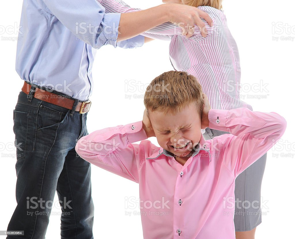 Parents share child. royalty-free stock photo