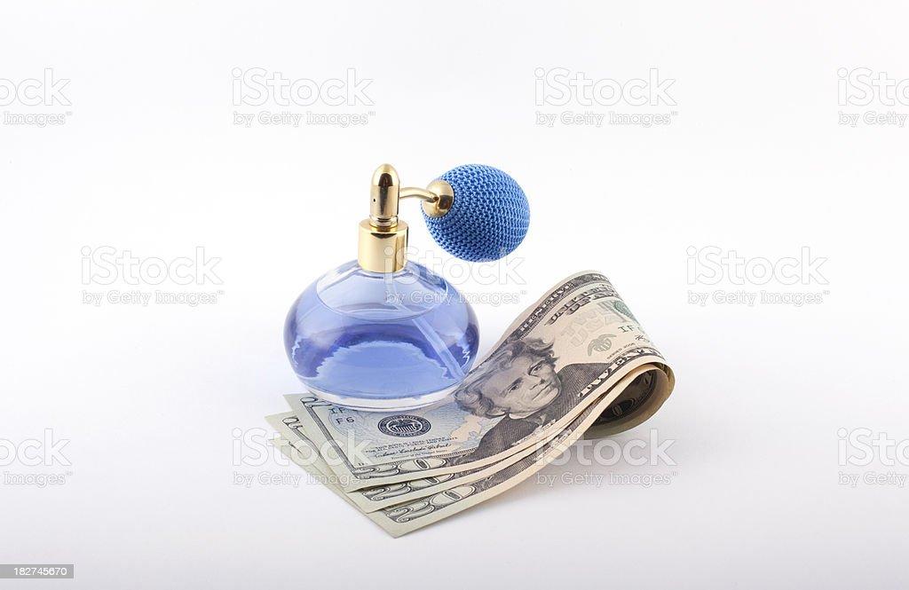 parfume with Dolar royalty-free stock photo