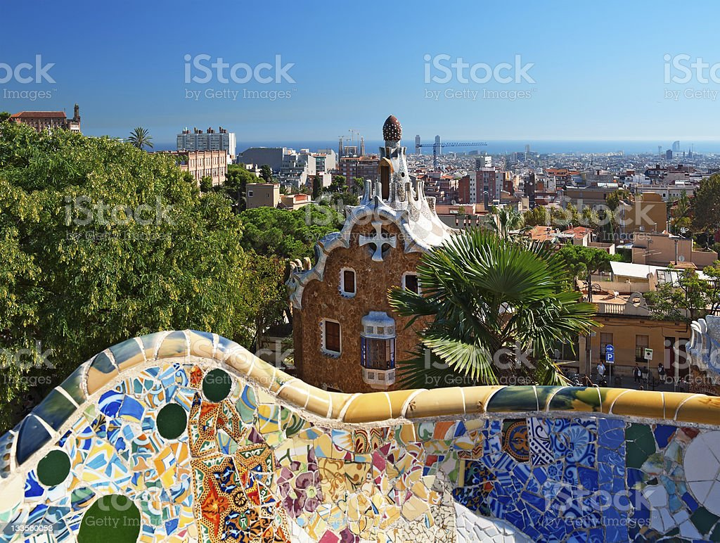 Parg Guell in Barcelona - Spain royalty-free stock photo