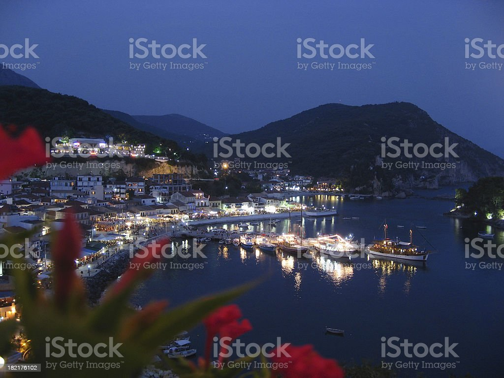 Parga at night royalty-free stock photo