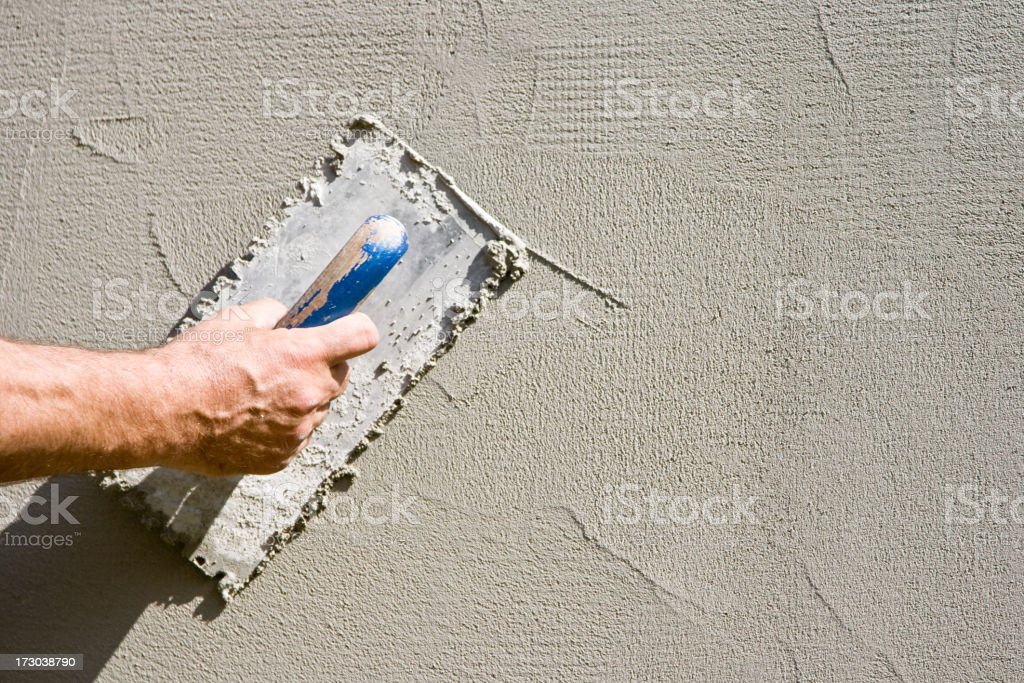 parget on the wall stock photo