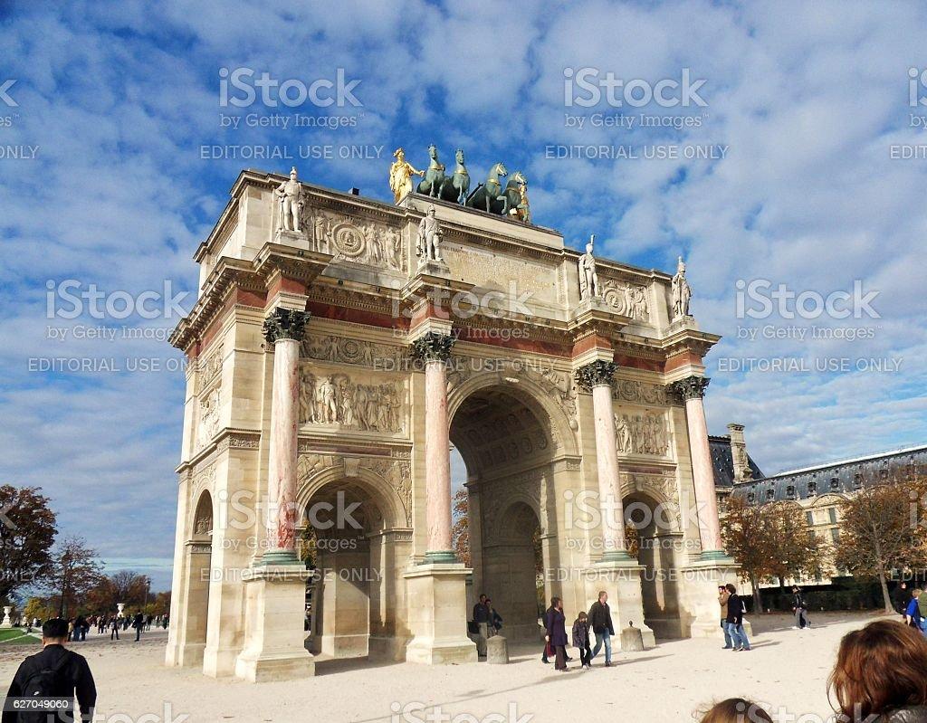 Parigi - Arco di Triofo del Carrousel stock photo
