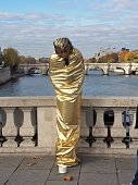 Parigi - Artista di strada su Pont au Change