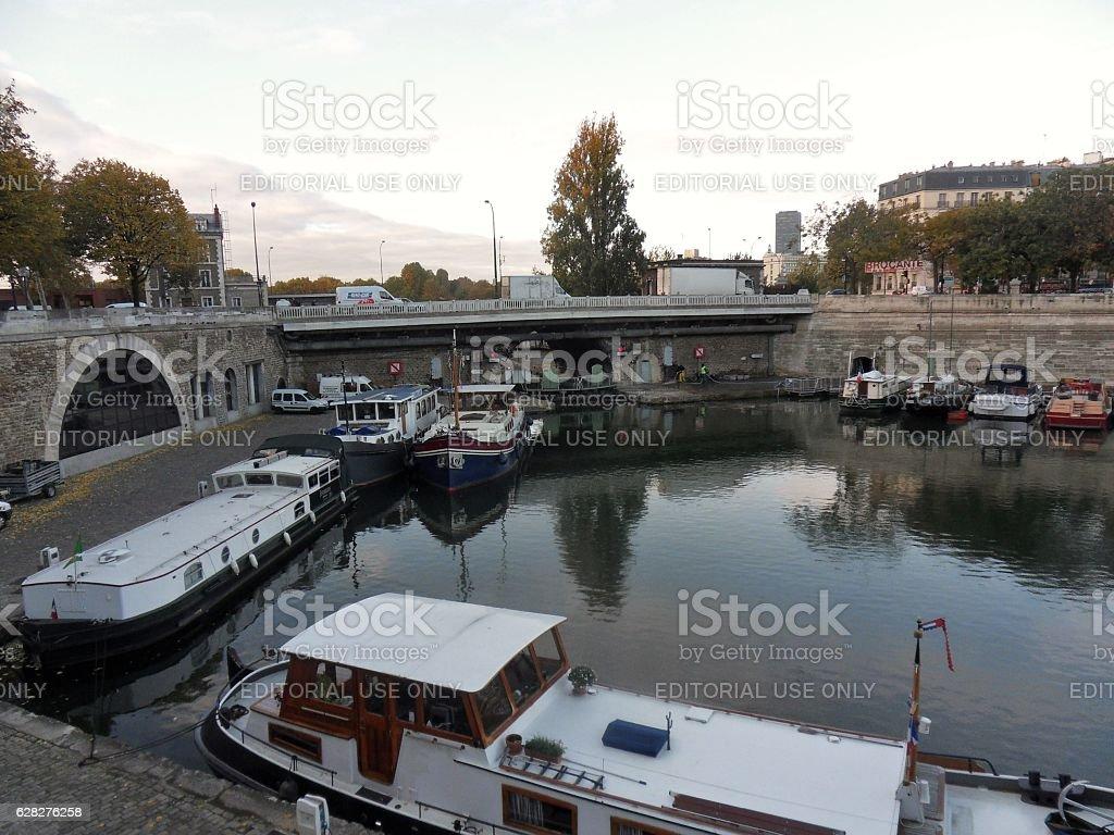 Parigi - Bassin de l'Arsenal stock photo