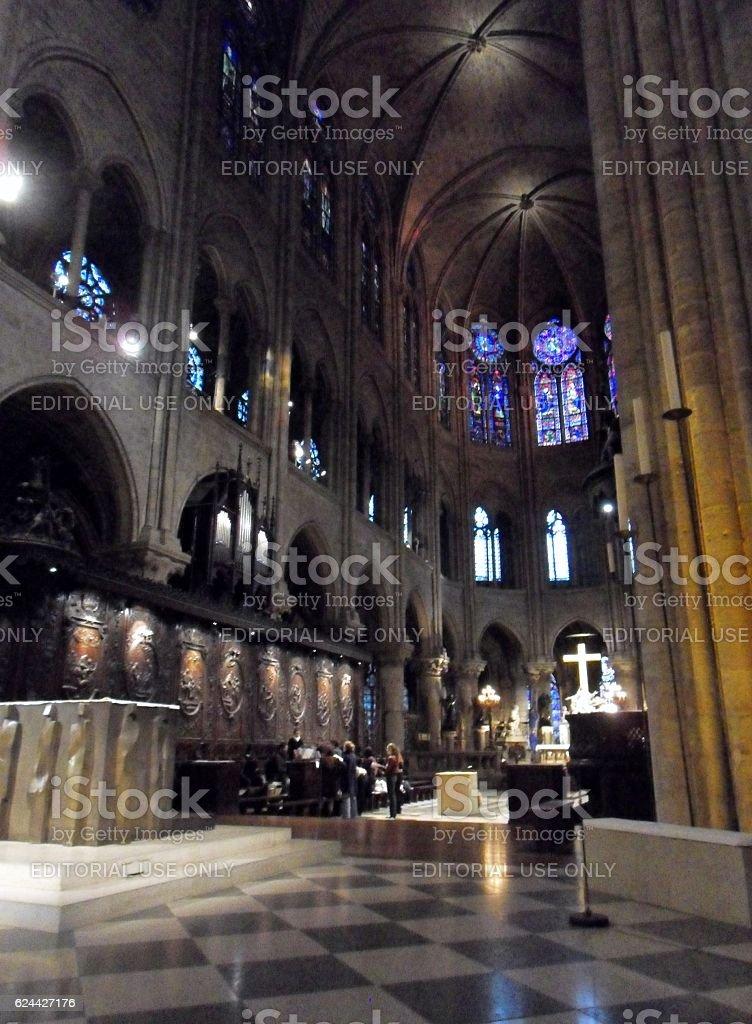 Parigi - Coro della Cattedrale di Notre Dame stock photo
