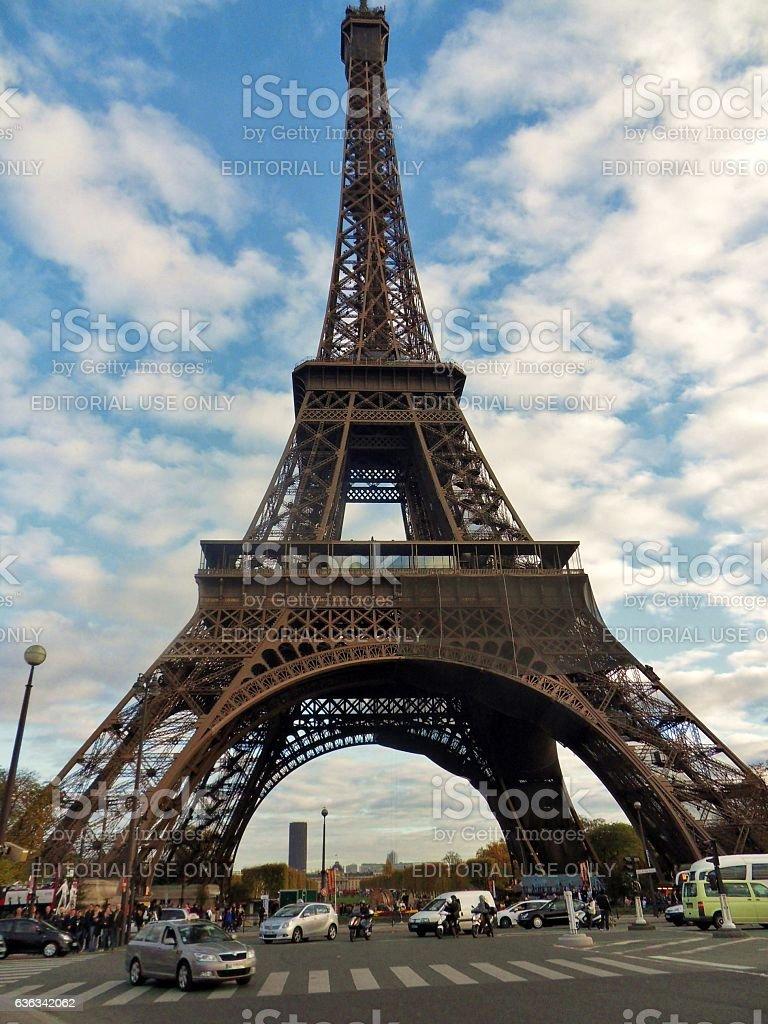 Parigi - La Tour Eiffel da Pont d'Iéna stock photo