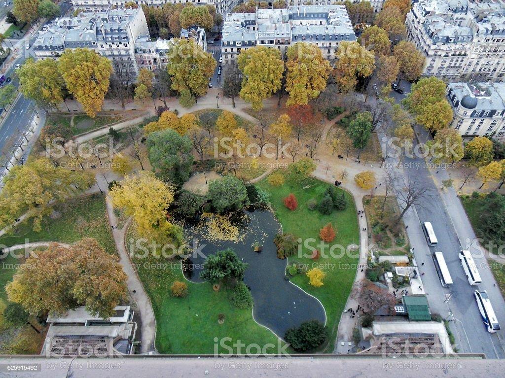 Parigi - Laghetto dalla Torre Eiffel stock photo