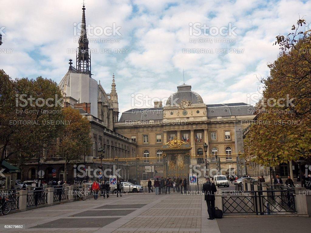 Parigi - Palais de Justice e Sainte Chapelle stock photo