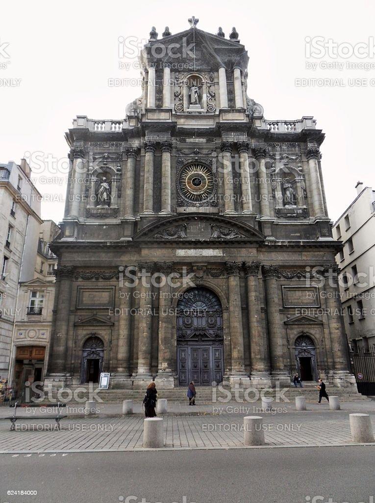 Parigi - Paroisse Saint-Paul Saint-Louis stock photo