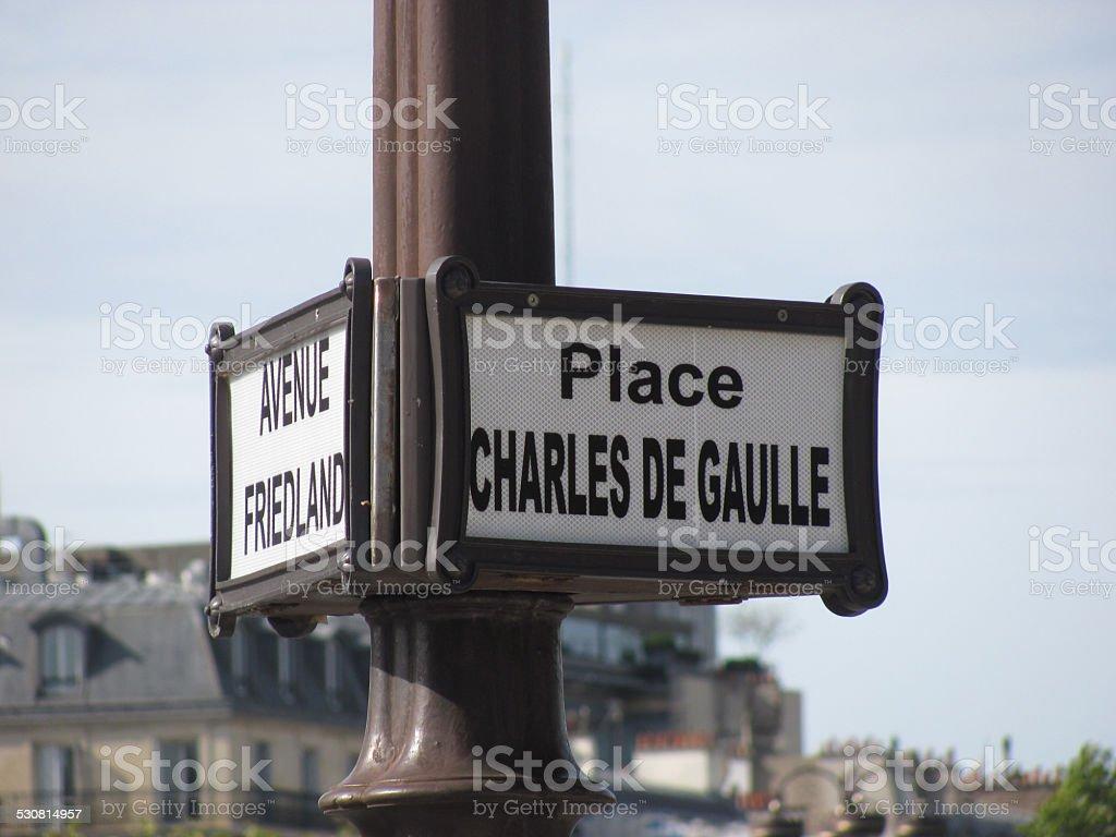 Parigi - Place Charles De Gaulle stock photo