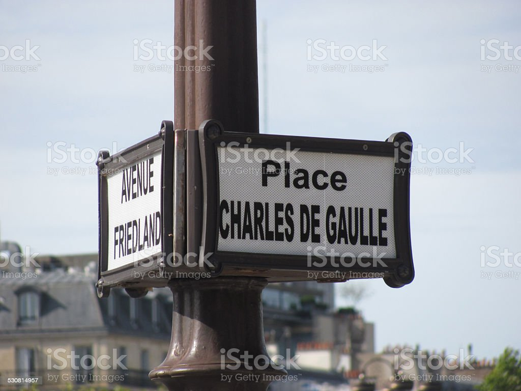 Parigi - Place Charles De Gaulle stock photo