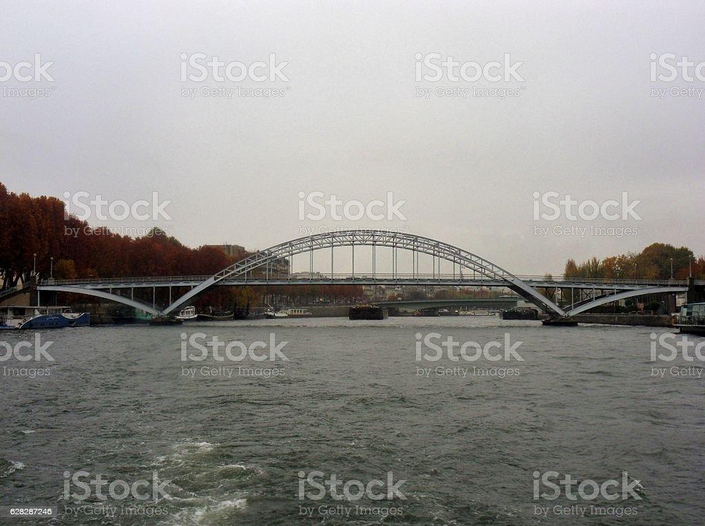 Parigi - Ponte Debilly dalla Senna stock photo