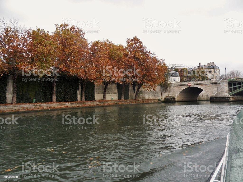 Parigi - Scorcio di Square Barye dalla Senna stock photo
