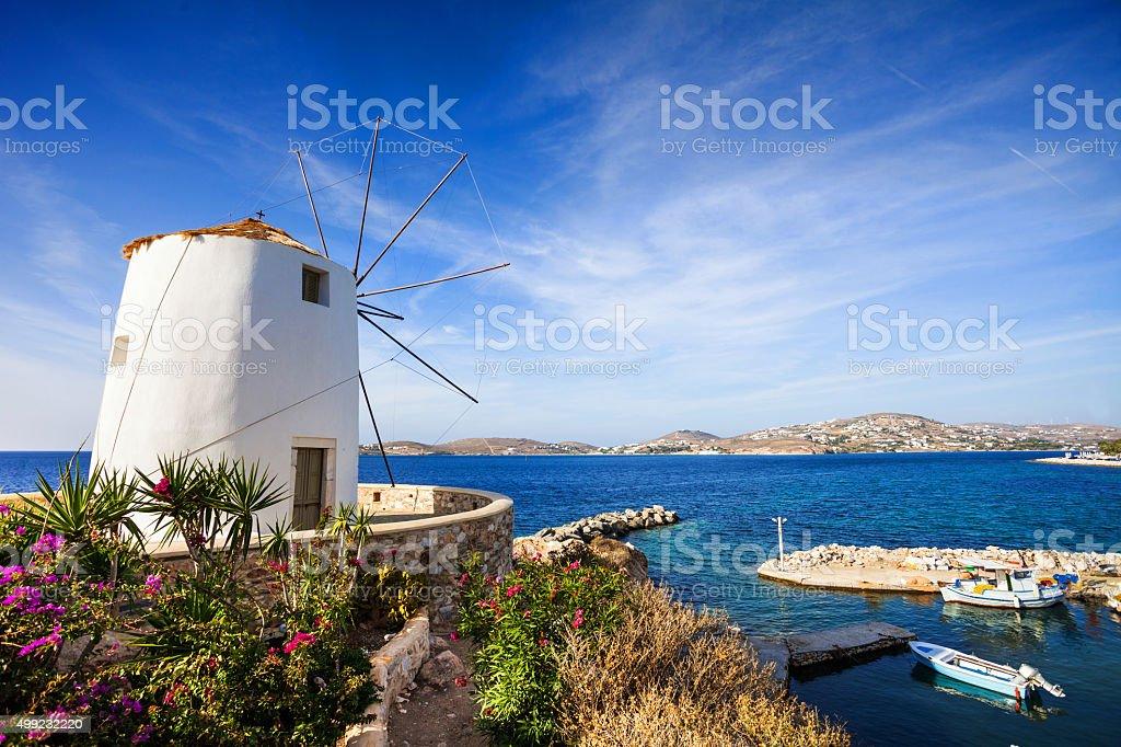Parikia town, Paros island, Greece stock photo