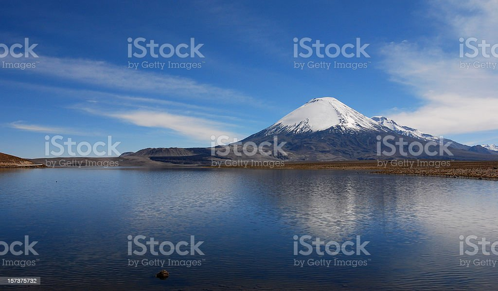 Parinacota Volcano stock photo