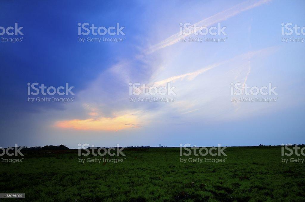 Paririe Storm Front stock photo
