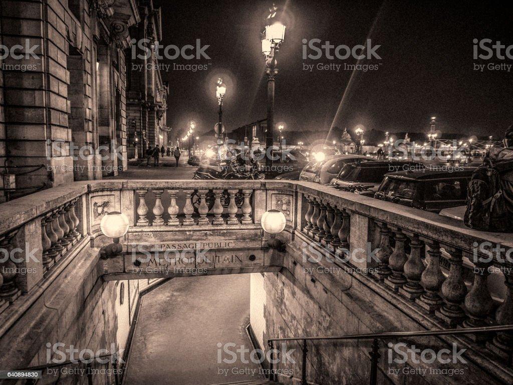 Paris 9th arrondissement street scene stock photo