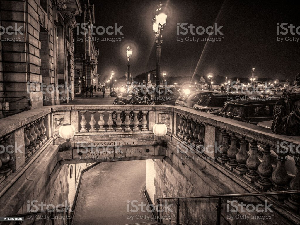 Paris 9th arrondissement street scene stock photo