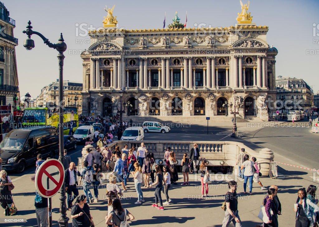 Paris 9th district street scene stock photo