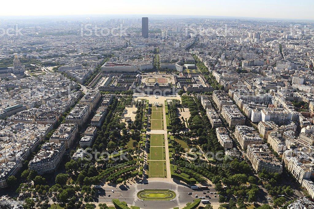 Paris Aerial cityscape France stock photo