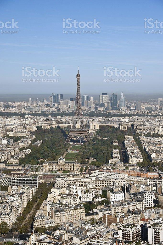 Paris, Aerial View royalty-free stock photo