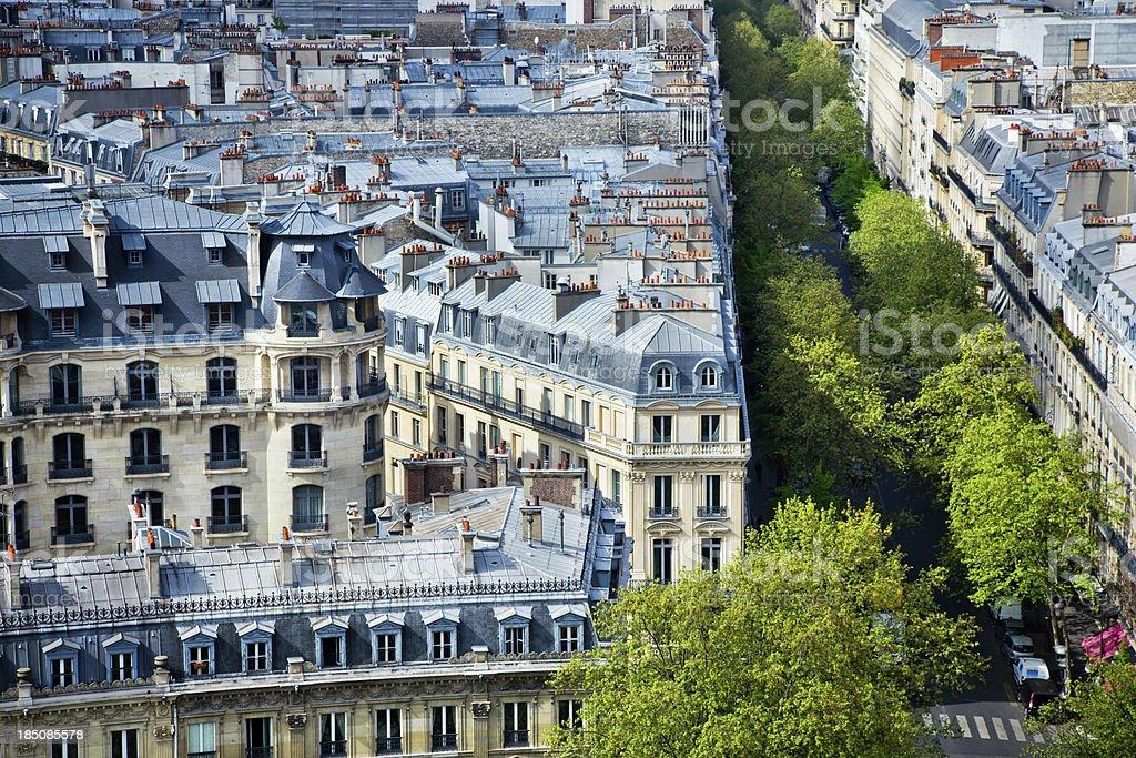 Paris aerial view royalty-free stock photo